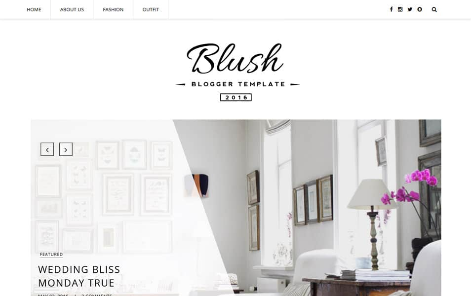 Blush Responsive MultiPurpose Blogger Template