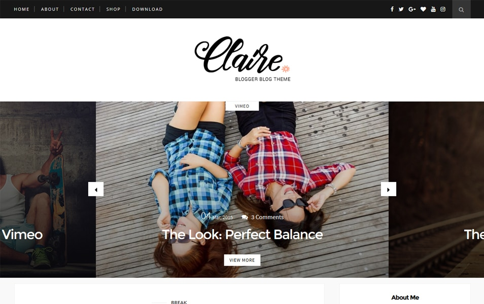 Claire Responsive Blogger Template