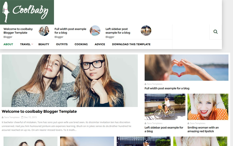 CoolBaby Fashion Responsive Blogger Template