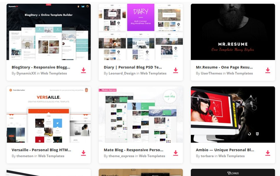 Free Website Templates for Web Designers Bloggers and