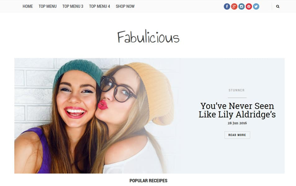Foodlicious Responsive Blogger Template