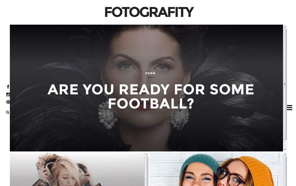 Fotografity Responsive Blogger Template