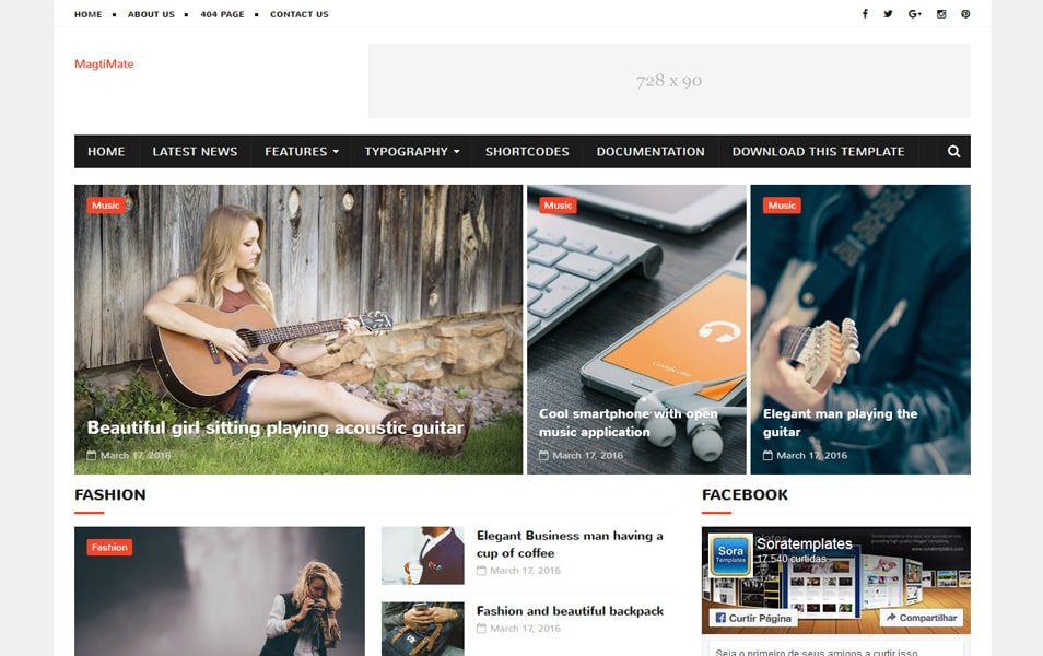 MagtiMate Responsive Blogger Template