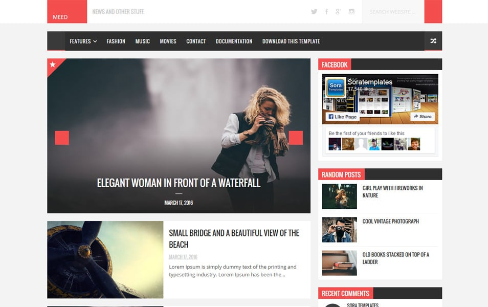 Meed Responsive Blogger Template