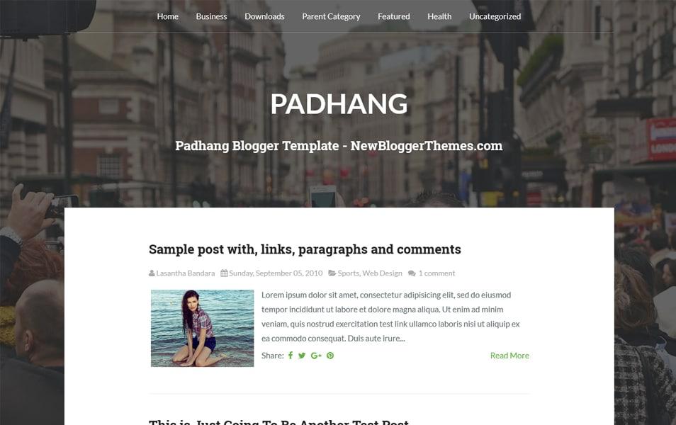 Padhang Responsive Blogger Template