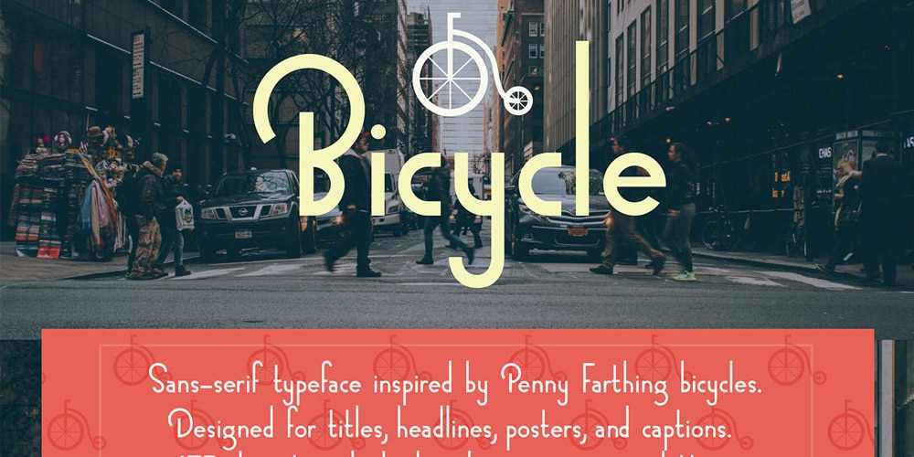 Bicycle Sans-serif Typeface
