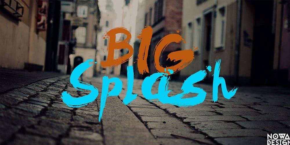 Big Splash Font