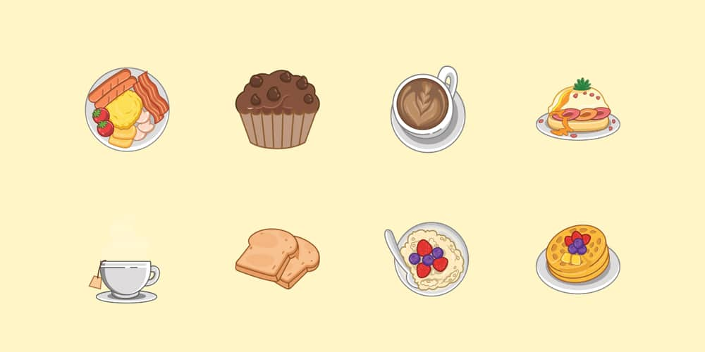 Breakfast-Food-Icons