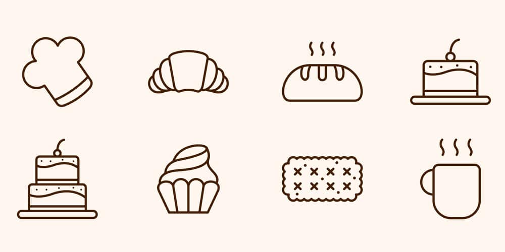 Cake and Bakery Vector Icons
