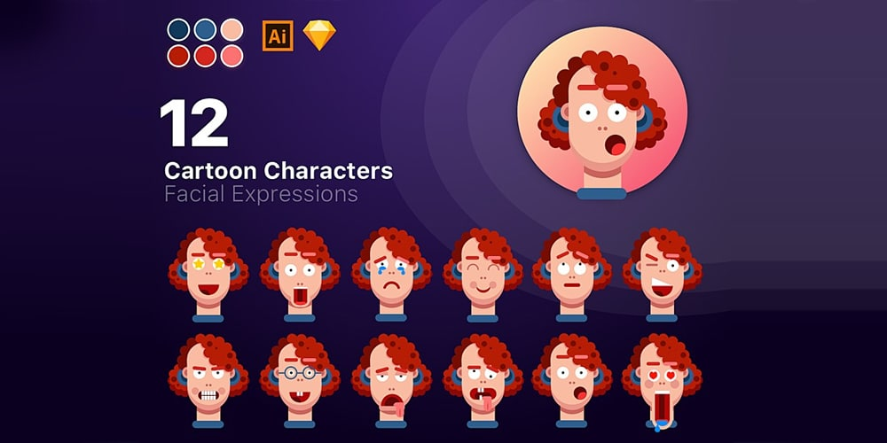 Cartoon Characters Icons