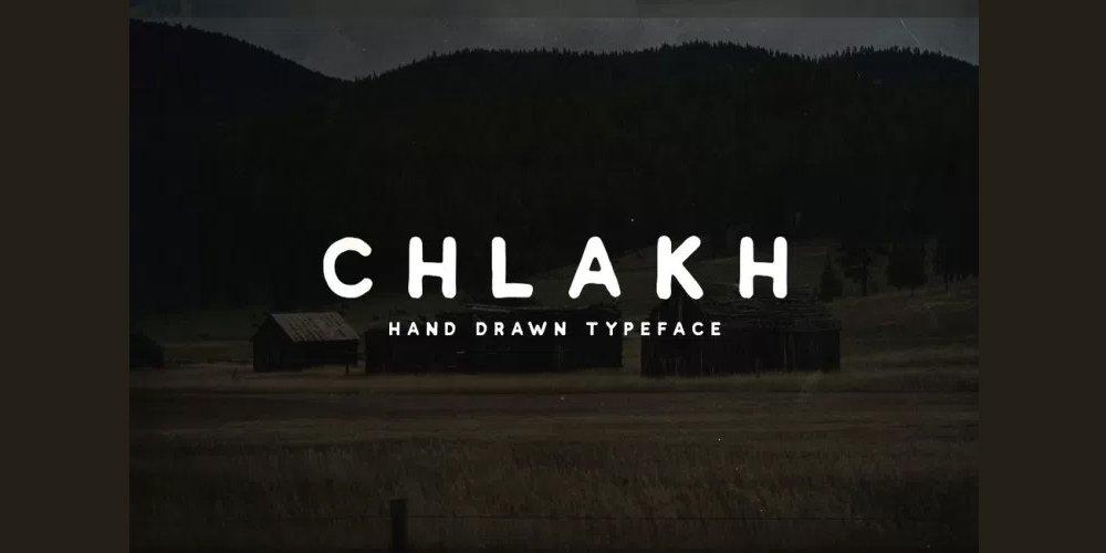 Chlakh Hand Drawn Font