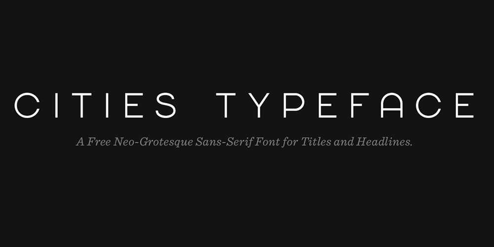 Cities Typeface
