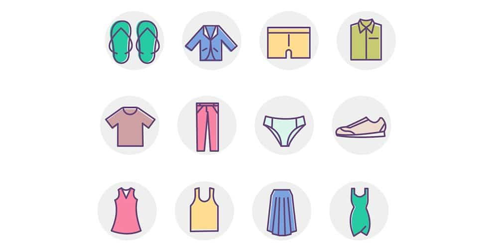 Clothing Color Icons
