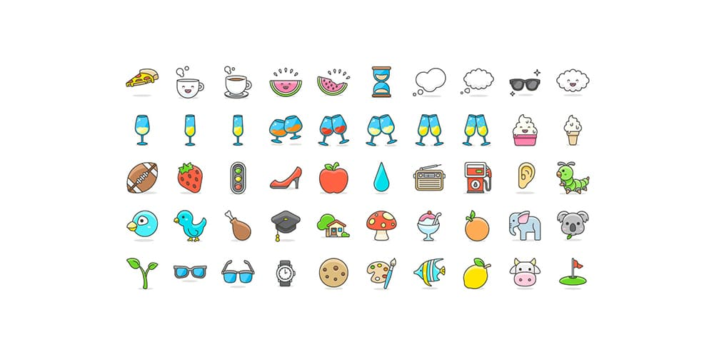 Cute-Emoji-Vector-Icons