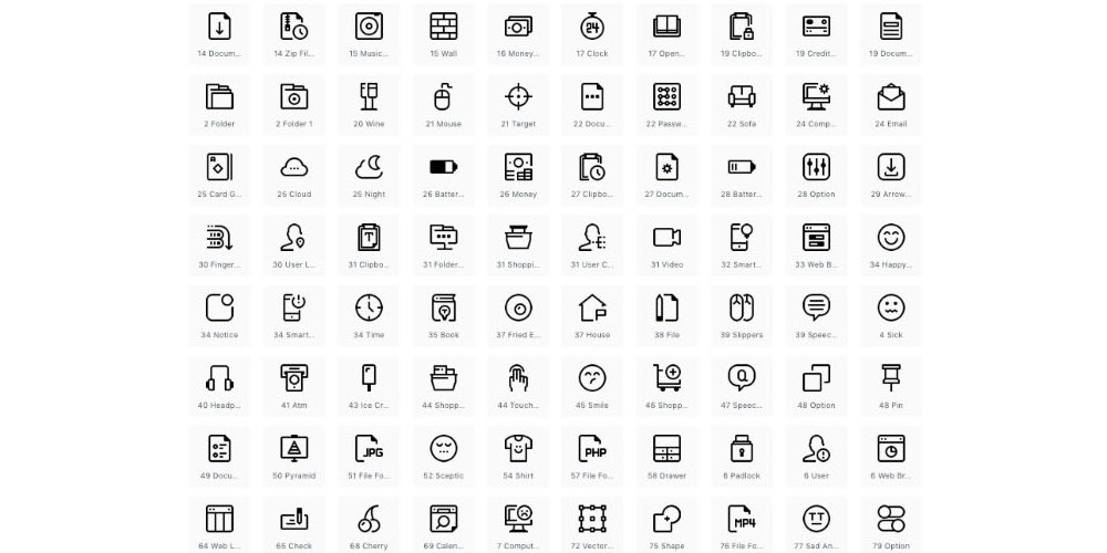 Essential Minimal Icons