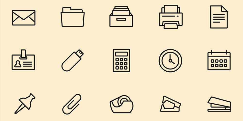 Essential Office Tools Icons
