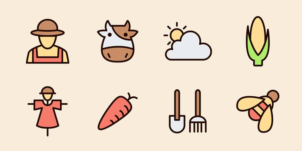 Farm Vector Icons