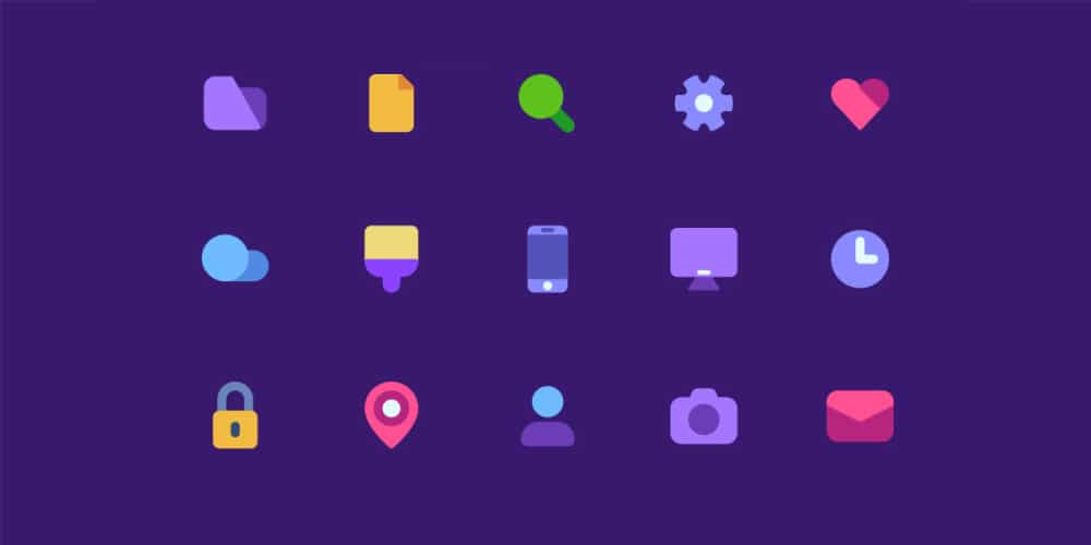 Flat Mate Basic Icon Set