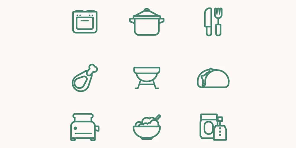 Food Vector Line Icons