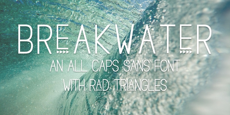 Free Breakwater Triangle Font