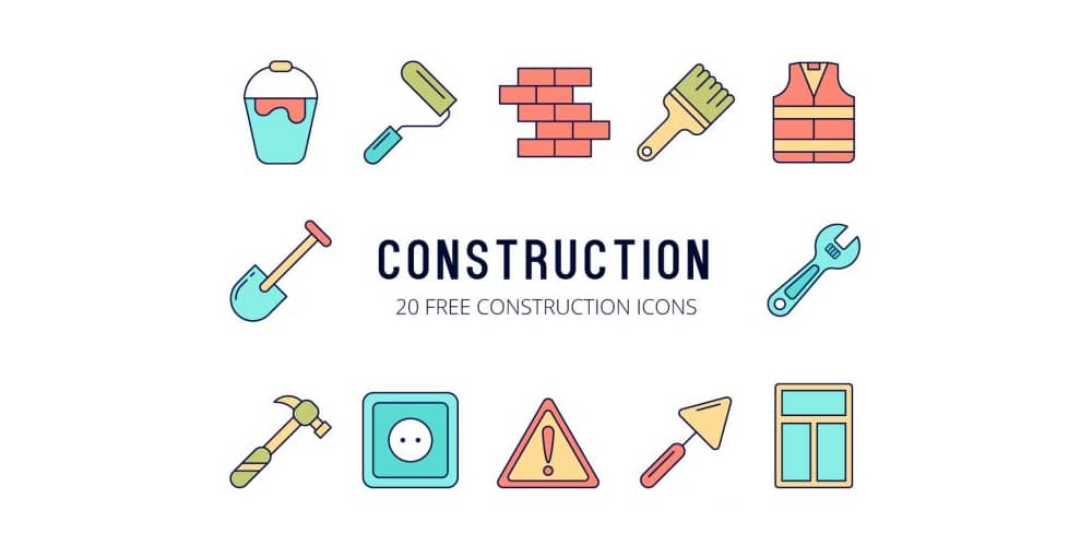 Free Construction Vector Icons Set