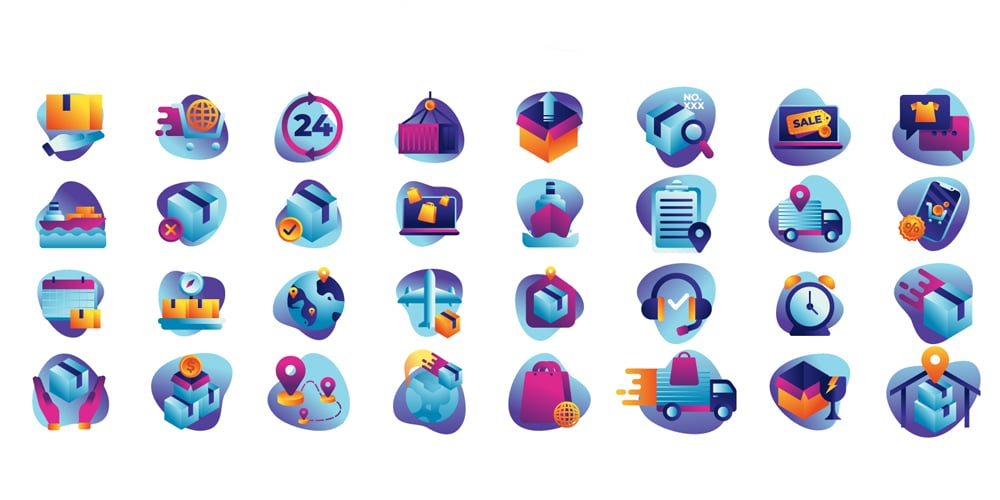 Free Delivery E-commerce Icons