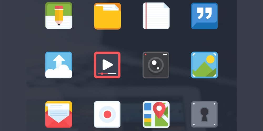 Free Flat Icons for Mobile App
