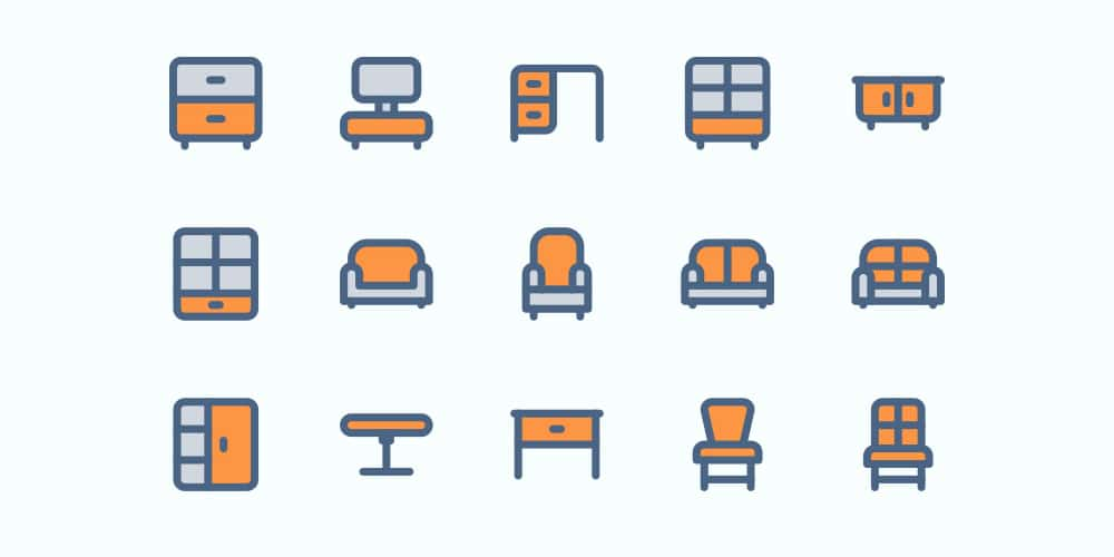 Free Furniture and Interior Icons