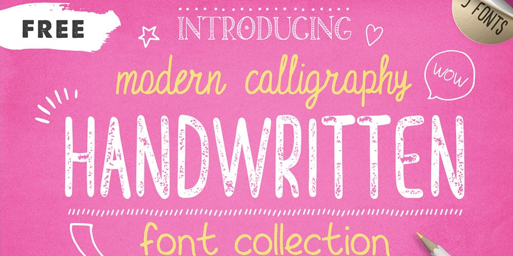 Free Handwritten Font Collection