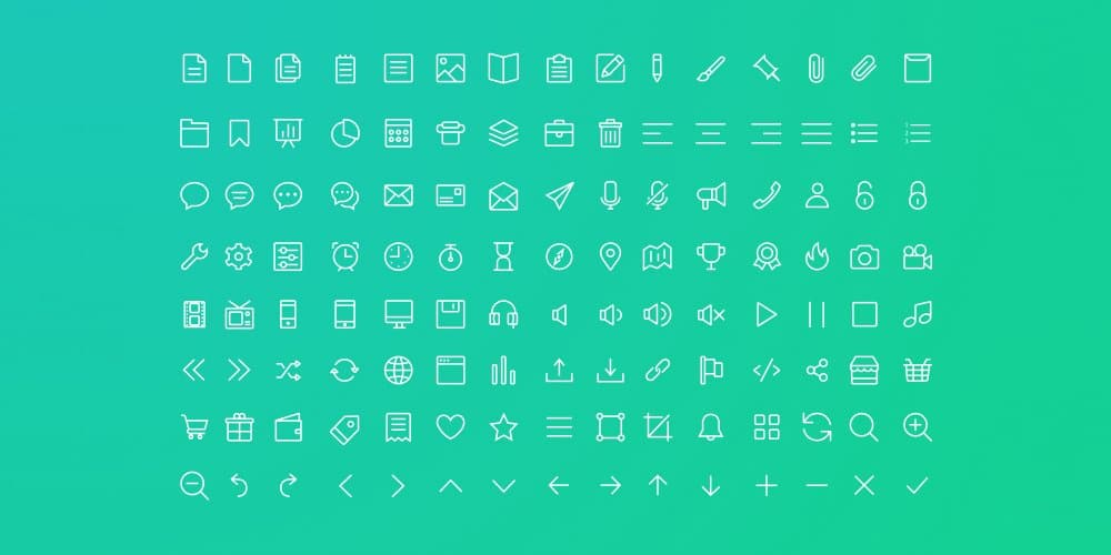 Free Line Icons for Sketch App