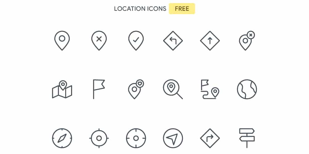 Free Location Icons