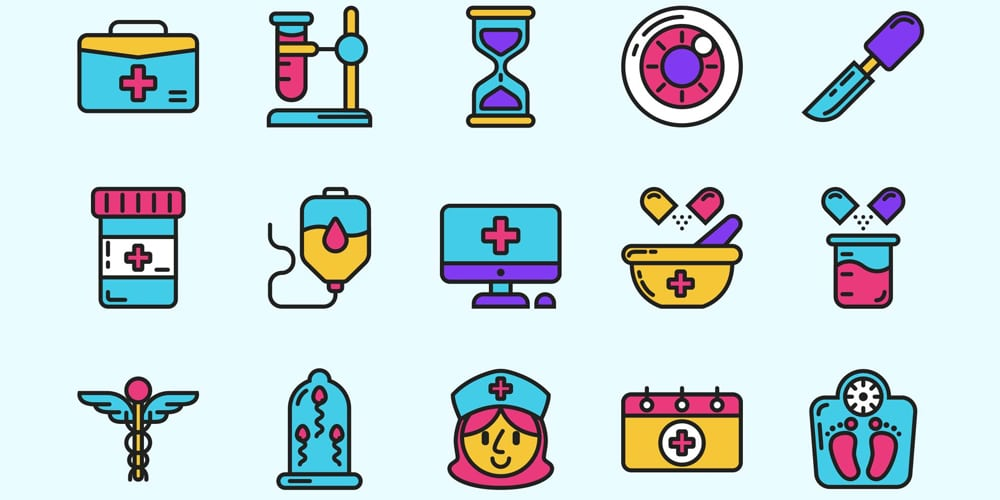 Free Medical Colored Icons