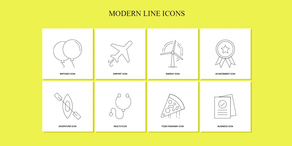 Free Modern Line Icons