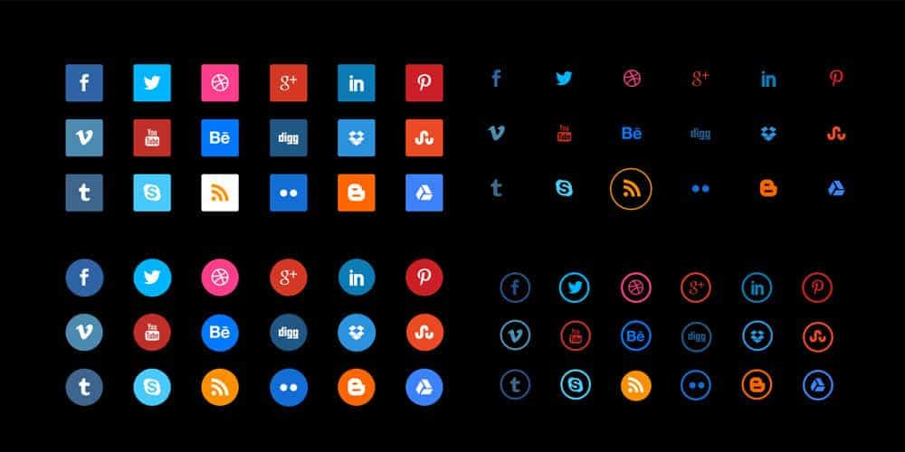 Free Social Media Vector Icon Set