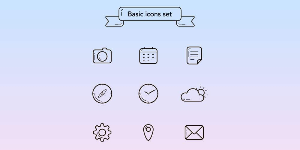 Free-UI-Basic-Linear-Icons