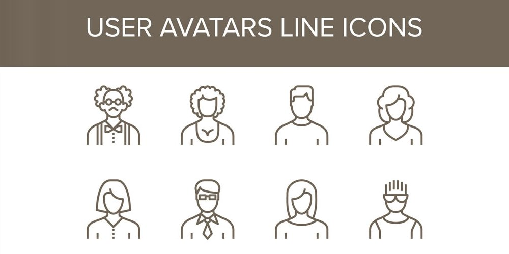 Free User Avatar Profile Icons