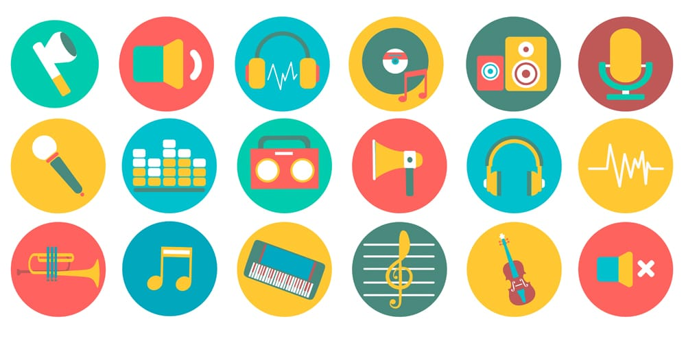 Free Vector Music Icons