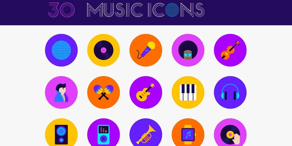 Funky Music Icons