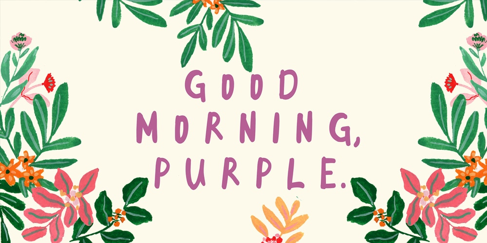 Good Morning Purple Font