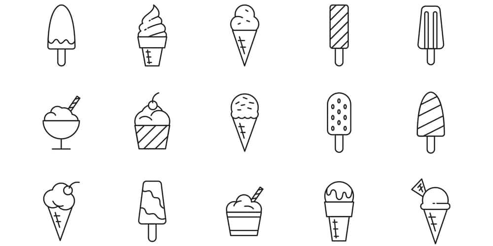 Ice Cream Types Icons