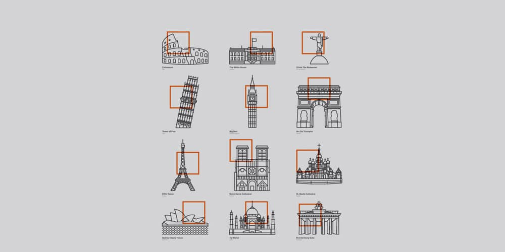 Iconic Buildings Icons