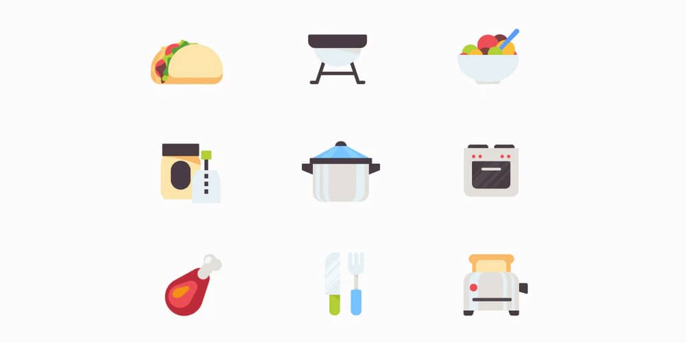 Kitchen Food Vector Icons