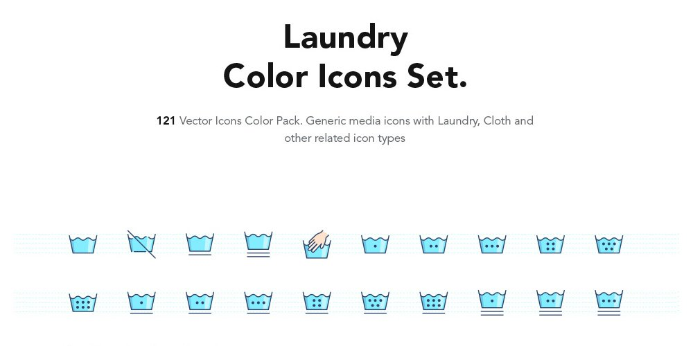 Laundry Color Icons