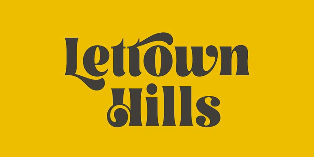 Lettown Hills Display Font