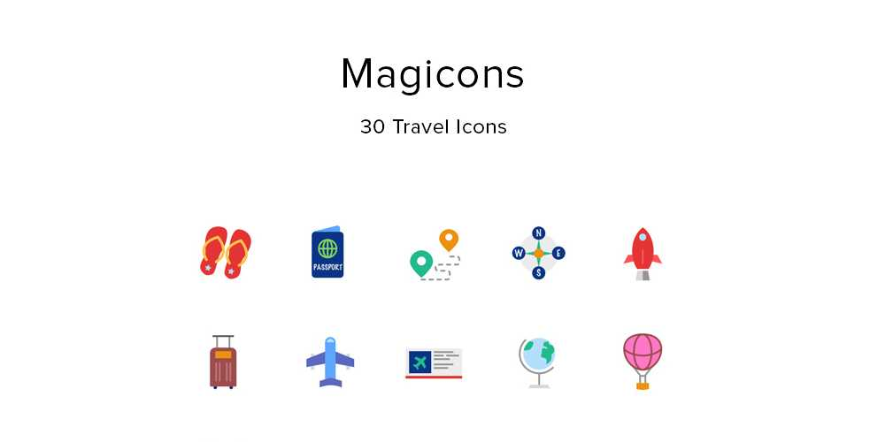 Magicons Free Travel Icons