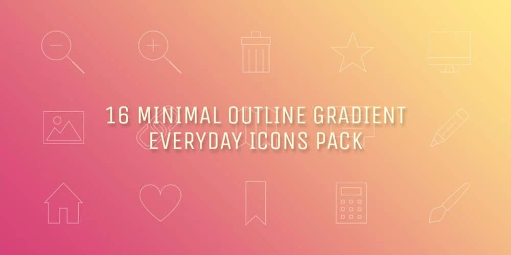 Minimal Gradient Outline Everyday Free Icon Sets