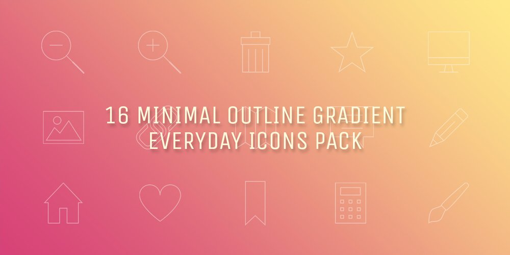 Minimal Gradient Outline Everyday Icons