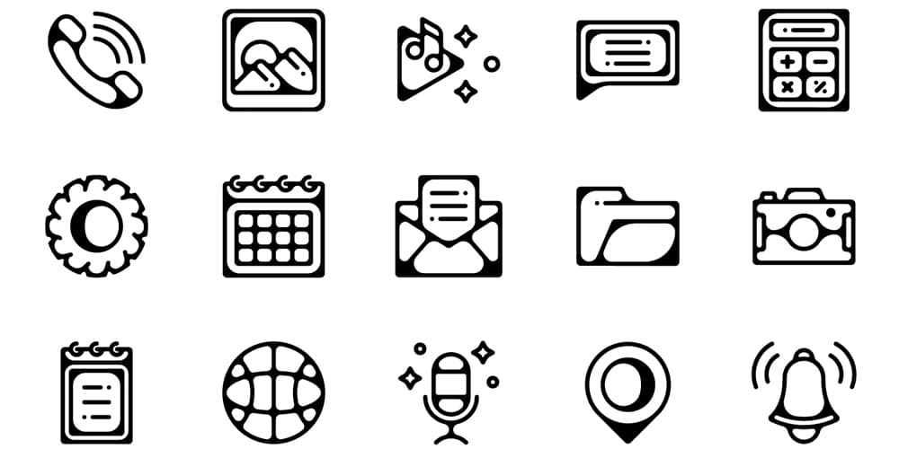 Mobile Essential App Icons