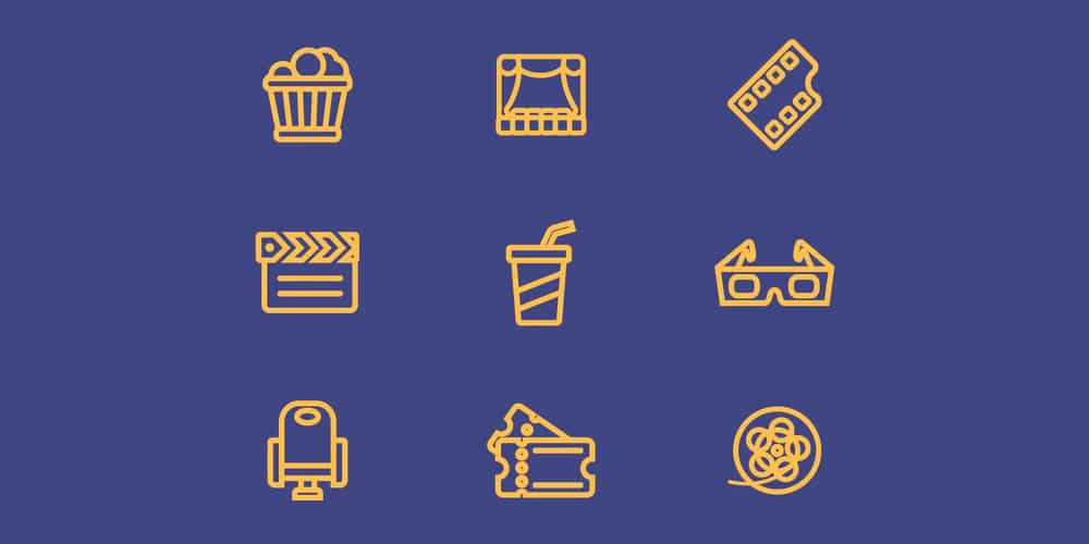 Movie-Line-Vector-Icons