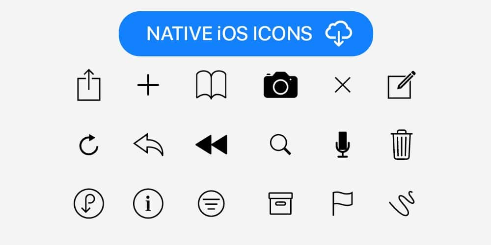 Native iOS Icons